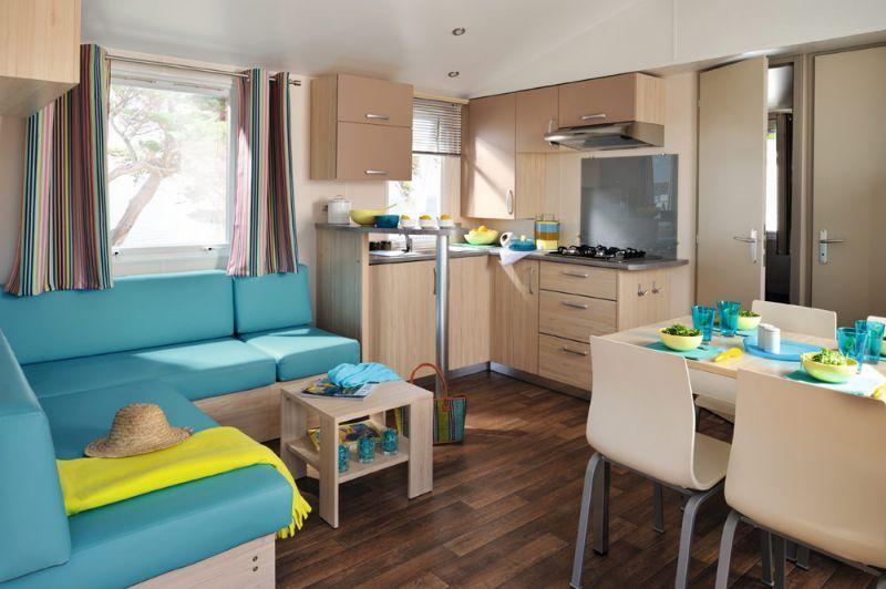 location mobil home 2 chambres normandie camping le grand large piscine couverte bord de mer. Black Bedroom Furniture Sets. Home Design Ideas