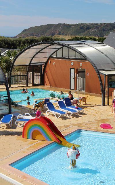 Camping normandie espace aquatique camping manche le - Camping normandie avec piscine couverte ...