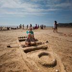 Camping Normandie, Jeux d'enfants sur la plage