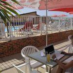 Camping Normandie, wifi terrasse
