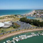 Camping Normandie, Vue aerienne musée Juno Beach