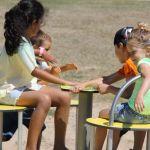 Camping Normandie, rigolade avec les enfants