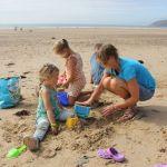 Camping Normandie, château de sable