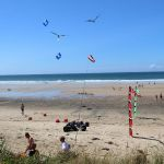 Camping Manche, cerf volant plage